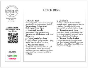 kobebay menu lunch p2b